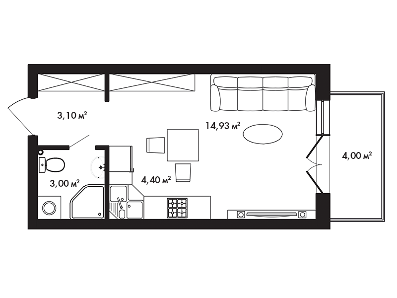 Схемы маленьких квартир студий